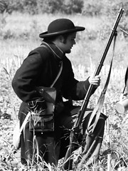 Reload and Hope... (C Griffith) Tags: bw northcarolina civilwar reenactment september2006 allisonwoods