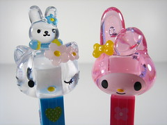 Hello Kitty & My Melody (WEBmikey) Tags: pez toys hellokitty