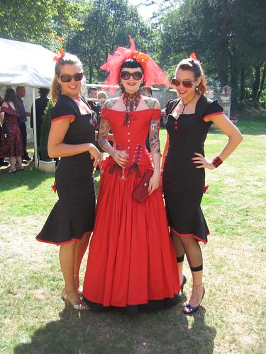 Badass red black wedding