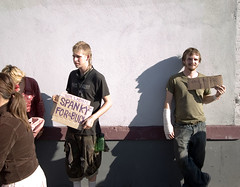 For A Buck (prawnpie) Tags: sanfrancisco cardboard soma salesmen spank folsomstreetfair enterprising notakers folsomstreetfair2006