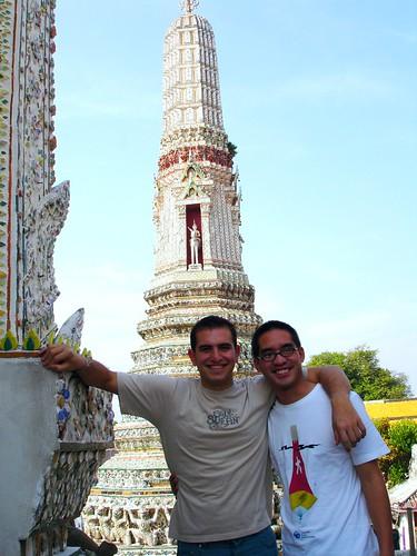 Con Roberto en Wat Arun