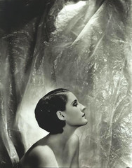 Norma Shearer. (carbonated) Tags: profile normashearer facingright crinkleybackdrop