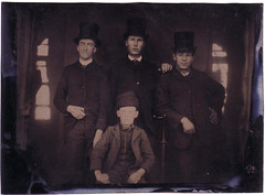 teenagers in tophats (paws22) Tags: boys formal hats teenagers dressedup tintype tophats