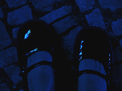 shoes in blue light (tanyvonne) Tags: berlin germany lackschuh lackschuhe kindheitstraum