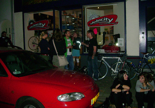 Race checkpoint in Arnhem at the headquarters of Velocity Couriers