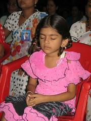 Meditator girl