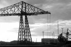1461 - Transporter (M R Fletcher) Tags: bridge bw industry monochrome blackwhite ic industrial sundown steel engineering valley northeast chemicals teesside transporter tees ici markfletcher rivertees utatainhalf