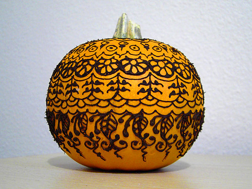 henna pumpkin designs