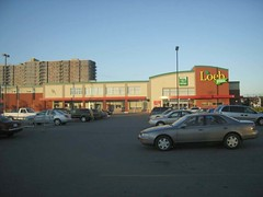 The Loeb supermarket on Merivale Road. (Steve Brandon) Tags: ontario canada cars parkinglot ottawa shoppingcart supermarket autos nepean apartmentbuilding automobiles stripmall voitures grocers stationnement  loeb supermarch   merivaleroad viewmount merivalemarket loebplus