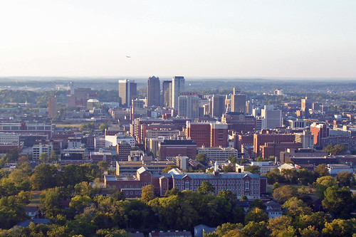 Birmingham's skyline from it's highest point