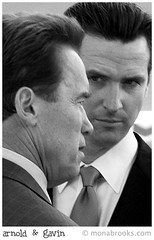 Gov. Schwarzenegger & Mayor Newsom (SFMONA) Tags: sanfrancisco california wow major politics photojournalism documentary governor arnoldschwarzenegger gavinnewsom progressivevsconservative