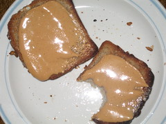 peanut butter on toast (falldownquick) Tags: peanutbutter