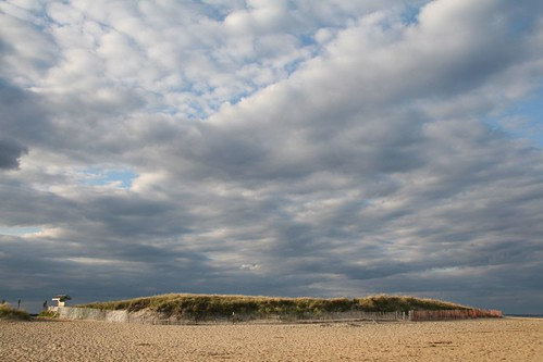 clouds over dune