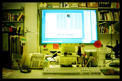 My Desk (Jaypeg) Tags: london work computer design office phone desk boring g5 hoxton sweat toil computersbehindblogs