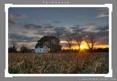 Farmhouse (jason_minahan) Tags: autumn sunset fall clouds farm nj princeton hdr mercercounty xti