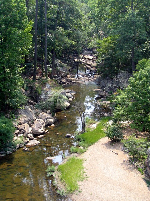View from the top of Noccalula Falls