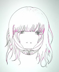 (frederick//H) Tags: pink black girl drawing fine doodle thatmagazine