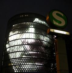 big brother 'S watching you… (carovald) Tags: light building berlin face architecture germany gesicht metro edificio potsdamerplatz sbahn