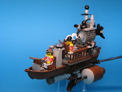 H.M.A.S. Fearless (Dunechaser) Tags: lego steam scifi sciencefiction fearless gunship  steampunk   alternativehistory victorianscience
