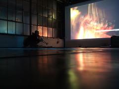 Soundtrack (Life As Art) Tags: light music playing color film loft oakland industrial tour creative trumpet josh improvisation sound salon solitary dae soundtrack milkbar accompaniment degenerateartensemble daefalltour2006