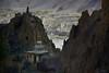 Stupa of Dhankar Gompa in Spiti Valley, India 2016 (reurinkjan) Tags: india 2016 ©janreurink himachalpradesh spiti kinaur ladakh kargil jammuandkashmir stupa dhankargompa dankhar drangkhar dhangkargompa brangmkhar grangmkhar himalayamountains himalayamtrange himalayas landscapepicture landscape landscapescenery mountainlandscape