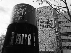 ''De Belangrijkste Voorwaarde Voor Geluk Is Dat Je Wilt Zijn Wat Je Bent'' (Miranda Ruiter) Tags: rotterdam blackandwhite photography text building streetart