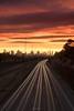 Light trails under sunset skies (Gary Eastwood) Tags: lighttrails nikond750 nisifilters longexposures sunset cloudsstormssunsetssunrises melbourne traffic clouds