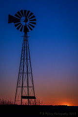 Evening windmill silhouette (Browtine1) Tags: sunset windmill sky color blue rural farm canon 5d