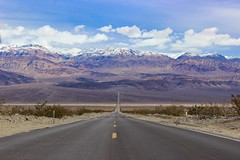 Highway To Death Valley (RStonejr) Tags: deathvalleyroad california lonely lonelyroad ca190 us190 highway190 deathvalley panamintmountains panamintsprings canon nature bumpyroad clouds natural snowcapped winter landscape new flickr unofficial andersdissingistrash
