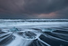 Icebergs & Trails, Jokulsarlon Beach (Sophie Carr Photography) Tags: jokulsarlon sunrise iceland watertrails moody cloudy