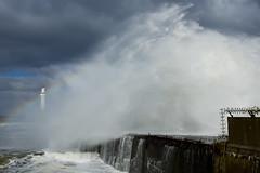 Sea Spray (steve_whitmarsh) Tags: aberdeen scotland storm water sea ocean splash harbour wall waves