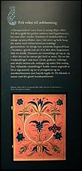 Hallingrosa (Multerland.........) Tags: embrikbæra hallingdal hallingrosa ål kulturhus rosemaling rosemåling nilsbæra exhibition kunst art painting traditionalart