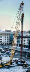 deep foundation drill (pbo31) Tags: bayarea california nikon d810 color march 2018 boury pbo31 urban sanfrancisco city over crane construction ucsf missionbay medicalcenter giant drill wet sunset site panorama large stitched panoramic