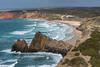 Overlooking Pria do Amado (hanschristian_nielsen) Tags: portugal vandreferie rotavicentina hiking ocean sea water wave atlanticocean cliff beach