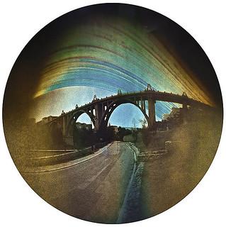 Solarigrafía del viaducto de Alcoi, Alicante (III). 2018