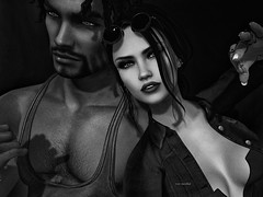 We are growing not just older but stronger.....💞 (Roy Mildor - I am how I am !) Tags: roymildor profile sl secondlife couple love monochrome