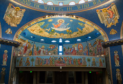2018-04 Mosaics Phase XII Installation 013A2004 (Greek Orthodox Church of the Holy Cross) Tags: belmont california unitedstates greek orthodox church mosaic iconography tonelli