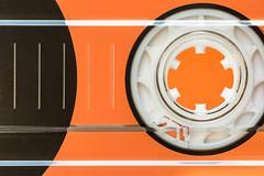 awesome mix tape (Marc McDermott) Tags: backintheday macromondays cassette tape music macro orange wheel spool magnetic old