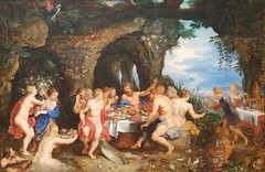 Peter Paul Rubens (Flemish) 1577-1640 and Jan Breughel the Elder 1568-1625,The Feast of Acheloüs,oil on wood. (marcos2077) Tags: metropolitanmuseumofart peterpaulrubens