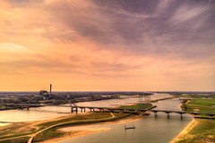 "Bridge ""De Oversteek,"" Nijmegen, The Netherlands. (Alex-de-Haas) Tags: 24mm altijdnijmegen dji dutch gelderland gelre hdr holland nl nederland nederlands netherlands nijmegen nimwege phantom phantom4 phantom4pro waal aerial aerialphotography air beautiful beauty bridge brug cirrus city drone hemel landscape landschaft landschap lente lucht luchtfotografie mooi oldestcity oudstestad river rivier schoonheid skies sky spring stad town urban water"