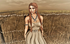 Im Lost But I Will Find My Way (Sparkle Mocha) Tags: collabor88 straw field pigtales redhead gachaland swallow empyrean forge armband redux {limerence} secondlife avatar firestrom maitreya catya catwa