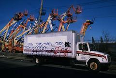 NY Streetscapes 836 (stevensiegel260) Tags: truck constructioncrane street streetphotography newyork thebronx huntspoint graffiti