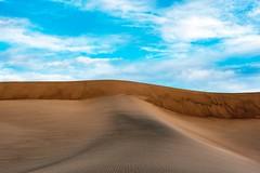 Sky, Dunes, Clouds (garshna) Tags: color texture details deathvalleynationalpark mesquitesanddunes clouds landscape