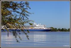Le BRAEMAR quitte Bordeaux après une courte escale. (Les photos de LN) Tags: bateau navire paquebot lebraemar croisière bordeaux gironde garonne estuaire port portdelalune