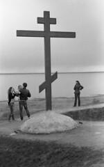 Cross (2478255) Tags: film rangefinder architecture children people lake cross leicam4 minoltamrokkor40mmf2 epsonv600 ilfordfp4 d76