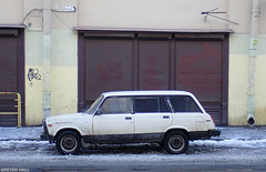 The Last Lada (peterphotographic) Tags: ©peterhall russia stpetersburg saintpetersburg росси́я санктпетербу́рг p3200172edwm thelastlada olympus tough tg5 lada car dilapidated old street streetphotography parked estate russian cliche snow winter cold ice freeze frozen