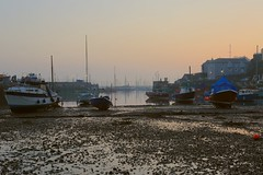 Early morning low tide (Steve M Photography) Tags: brixham devon mudflats lowtide boats coast seaside harbour dawn sunrise peaceful tranquil holiday relaxing
