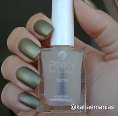 Matte (INI Nail) (katiaemanias) Tags: fosco esmaltefosco matte esmalte esmaltes polish nails nailpolish nail unhas unha ininail katiaemanias verde