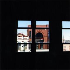yashica window albert lea (e50e) Tags: yashicamat albertlea minnesota historicbuildings historicpreservation freebornbankbuilding interior instaalbertlea