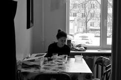natalia (Emma Gavagna) Tags: girl girls woman reading books book tallinn estonia photography portrait people black blackandwhite white window winter shadows light shooting nikon nikonphotography d5100 bokeh 50mm